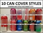 10 STYLES HIDE A BEER CAN COVERS SODA SINGLE CAMO SLEEVES GOLF TAILGATE