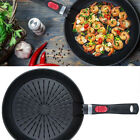 "New Fat-Free Fry Pan w/Removable Easy-Click Drip Drop Plate, 11"" Black image"