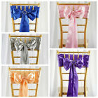 100 New Satin Chair Sashes Bows Ties Wedding Decorations - W