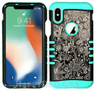 For Apple iPhone X - KoolKase Hybrid Silicone Cover Case - Texture Flower 10