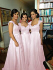 Chiffon Formal Evening Bridesmaid Dresses Party Ball Prom Gown Dress
