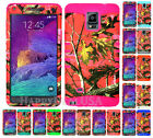 For Samsung Galaxy Note 4 KoolKase Hybrid Silicone Cover Case CAMO MOSSY PINK
