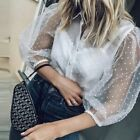 ZARA SOLD OUT S/S18 ECRU SHEER ROMANTIC EMBROIDERED POMPOM BOHEMIAN TOP 7521/008