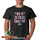 Mossy Oak T-Shirt Mud Up Or Shut Up Pink Camo 4X4 Truck Men's Tee