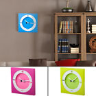 EdgeVantage Trendy Wall Clock Pop Art Decorative Square Modern Bright Colors Fun