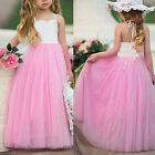 Baby Kids Flower Girl Tutu Tulle Dress Princess Wedding Pageant Party Dresses US