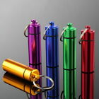 Waterproof Bottle Keychain Case Container Holder Aluminum Box Case