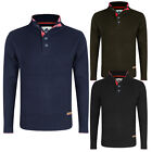 Mens Crew Neck Knit Jumper Stallion New Pullover Long Sleeve Winter Hot Sweaters