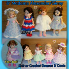 "8"" GIRL Doll Clothes, MADAME ALEXANDER, GINNY Handmade by the Crafty Grandmas"