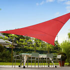 Red Rectangle Triangle Waterproof Sun Shade Sail Garden Pool Patio Canopy Cover