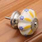 Chinese Style Round Ceramic Cabinet Drawer Knobs Door Pull Handles -7 Pattern