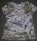 NWT MSRP $39 Womens Under Armour Fitted Camo Barren Tan Heat
