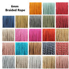 6mm BARLEY TWIST BRAIDED ROPE  CORD POLYESTER ROPE CRAFTS STRING 23 COLOURS