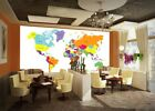 3D World Map Fashion 42 Wall Paper Wall Print Decal Wall Deco Indoor Mural Lemon