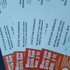 $10 Wisconsin State Fair General Admission Tickets- Milwaukee WI- 8/2-8/12, 2018