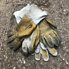 BRITISH ARMY SURPLUS YELLOW & CREAM LEATHER AIRCREW PILOTS FLYING GLOVE ODDS UK