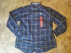 New Mens Chaps Long Sleeve Button Up Dress Shirt Green Blue Red Plaid All Sizes