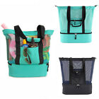 Mesh Beach Travel Bag with Cooler Insulated Picnic Waterproo