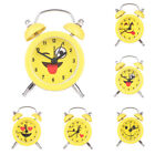 Mini Cute Small Round Desk Alarm Clock with Button Battery Home Outdoor 5Color