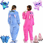 Adult Unisex Animal Kigurumi Pajamas Costume Cosplay Blue/Pink Stitch Angel 2018