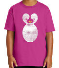 Cute Penguin Kid's T-shirt Large Penguin Print Tee for Youth - 2071C