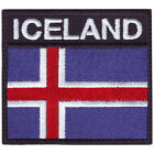 Iceland Flag Badge Embroidered Patch
