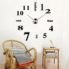 3D Mirror Luxury Modern DIY Large Wall Clock Surface Stickers Home Office Decor