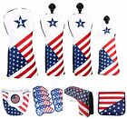 Golf USA Flag Driver Fairway Wood Cover Hybrid Putter Cover Iron Cover Callaway