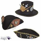 Adults Steampunk Victorian Gothic Fancy Dress Halloween Cosplay Accessory Hat
