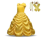 Children Girls Beauty and the Beast kids Princess Belle Dress UP Set B1