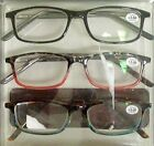 Contemporary Fashion Womens Reading Glasses 3-Pack w. Protection Case