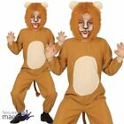 Childs Girls Boys Wild Animal Zoo Jungle King Lion Fancy Dress Costume Jumpsuit