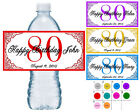 50 ~ 80TH BIRTHDAY PARTY FAVORS WATER BOTTLE LABELS ~ PERSON