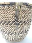VINTAGE ANTIQUE APACHE INDIAN TWINED BURDEN BASKET W/HIDE - early example NICE !