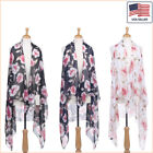 New Women Fashion Floral Printed Chiffon Open Front Sleeveless Vest - 30041