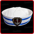 KIDS CHILDRENS/ADULTS NAVY SAILOR HAT-POPEYE-GOB-YACHT-BOAT-SEA-COSTUME-ANCHOR06