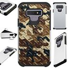 FUSIONGuard For Samsung Galaxy NOTE 9 8 S9 S8 Phone Case CAMO CROSSHATCH BROWN