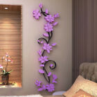 Wall Sticker Removable Acrylic Room Decor 24*80cm Beautiful 3D Rose New Fashion