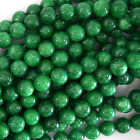 "Korean Green Jade Round Beads Gemstone 15"" Strand 4mm 6mm 8mm 10mm 12mm"