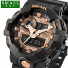 SMAEL Digital Analog Sport Military 3D Big Dial Heavy Duty Mens Wrist Watch 5ATM image