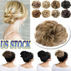 Women Updo Chignon Fake Clip in On Like Human Hair Bun Hair