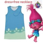 2018 Trolls Poppy Cosplay Costumes Clothes Kids Party Holiday Birthday Dress k85 image