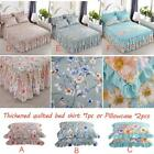 Bed Covers Protective Quilted Thick Lace Skirt Single Piece Polyester Cotton image