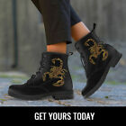 Scorpio Zodiac Women Boots, Scorpion Booties Lover Vegan Leather Shoes