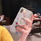 Marble Case Soft TPU Case with Pop Up Phone Holder For iPhone 6 7 8 X XR XS MAX