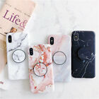 Внешний вид - Marble Case Soft TPU Case with Pop Up Phone Holder For iPhone 6 7 8 X XR XS MAX