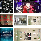 Christmas Merry Xmas Santa Claus Deers Snowflakes Window Glass Wall Stickers New