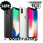 Apple Unlocked  iPhone X  5.8&quot; CDMA GSM ATT T-Mobile Cricket Verizon Sprint <br/> ✔ 1 Year Warranty ✔3 Day Mail ✔ Open Box Cond ✔ Charger