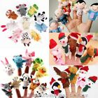 1/2/5/10Pcs Cartoon Animal Finger Puppets Plush Doll Baby Educational Toy Gifts