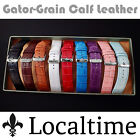 Localtime Gator-Texture Italian Calf Leather Watch Strap 20 22 24 26mm 9 Colours